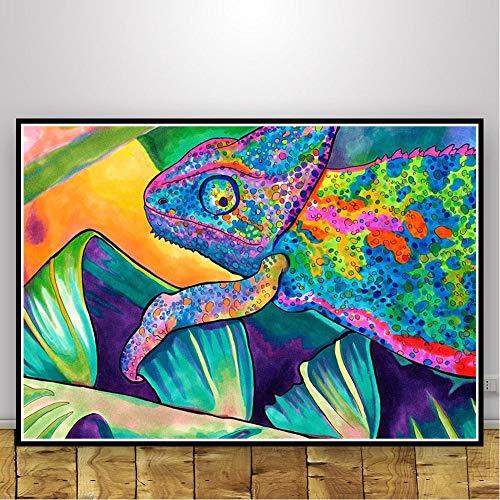 Geiqianjiumai Abstrakt schwarz lichtrahmen psychedelisch psychedelisch Kunst Poster Wohnzimmer Dekoration drucken Moderne leinwand wandbild rahmenlose malerei 50X70 cm