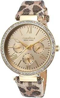 Caravelle New York Women's 44N103 Analog Display Analog Quartz Yellow Watch