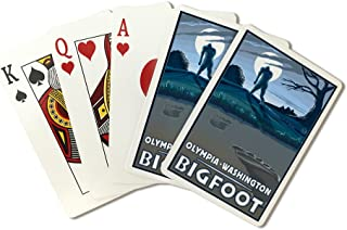 Olympia, Washington - Bigfoot (Playing Card Deck - 52 Card Poker Size with Jokers)