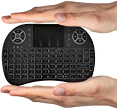 OEM (US Version) FMKRFL1-US20 2.4GHz Backlit Mini Wireless Keyboard with Touchpad Mouse for Google Android TV Box, PC, HTPC, IPTV, PS3, Black