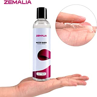 ZEMALIA Water Based Personal Lubricant 8 oz Lube for Women Men and Intimate Couples Made in USA Hypoallergenic Easy to Clean