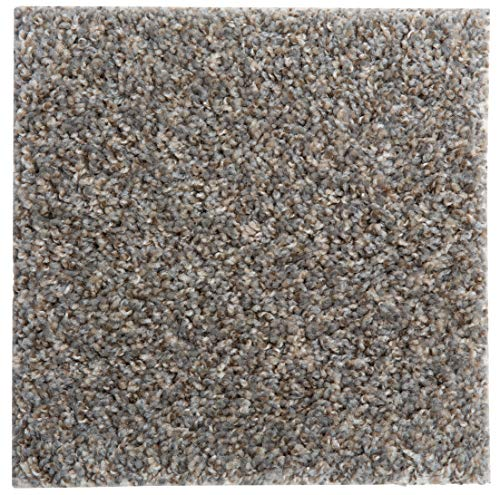 """SMART SQUARES in A Snap 18"""" x 18"""" Residential Soft Carpet Tile, Peel and Stick, Easy DIY Installation, Seamless Appearance, Made in USA (10 Tiles - 22.5 Sq Ft, Stonehenge)"""