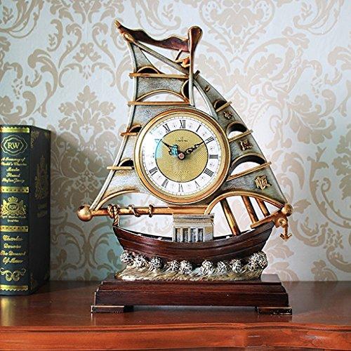 Horloge de table Horloge de personnalité créatrice / bureau pendule pendule / Horloge de table / ornements de bureau muet Horloge de style européen Pendules et horloges