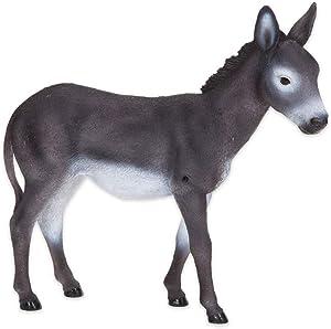 Bits and Pieces bits y Piezas–Donkey Sensor de Movimiento–Estatua de Resistente a la Intemperie, Pintado a Mano–Escultura de Polyresin Jardín Decoración