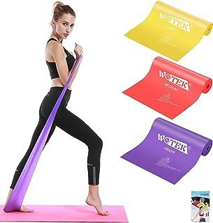 Gomas Elastica Fitness, 3 Piezas Cintas Elasticas Fitness 3 Niveles, Bandas Elasticas Fitness para Musculacion, Yoga, Pila...