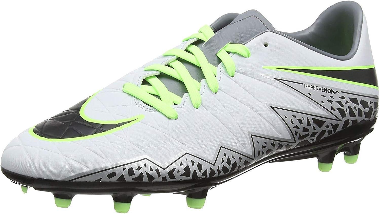 Nike Men's Hypervenom Phelon II FG Pure Platinum schwarz Ghost Grün Soccer schuhe - 10A
