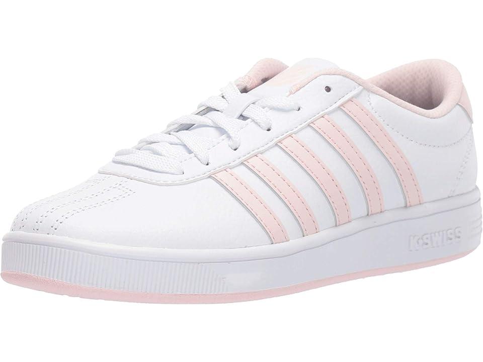 K-Swiss Classic Pro (Big Kid) (White/Pearl) Shoes, Pink