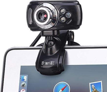 Linbing123 USB Webcam Streaming Video Stream Web Camera Full HD Microfono Incorporato Funzione Visione Notturna Regolazione Manuale della Messa a Fuoco, Obiettivo Ottico Importato - Trova i prezzi più bassi