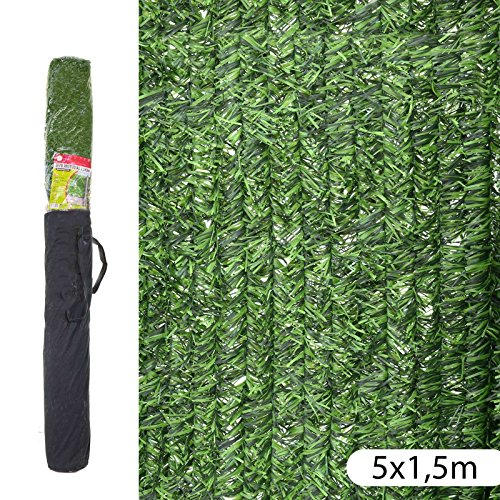 Ldk Garden 82188 - Seto artificial de ocultación para jardín, 500 x 150 x 20 cm, color verde