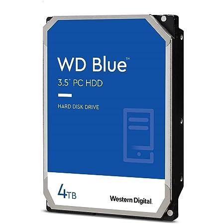 """Western Digital 4TB WD Blue PC Hard Drive HDD - 5400 RPM, SATA 6 Gb/s, 64 MB Cache, 3.5"""" - WD40EZRZ"""