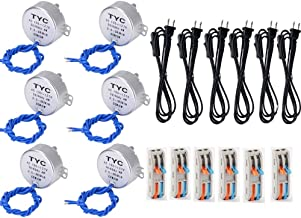 6PCS Synchronous Synchron Motor Turntable Motor 50/60Hz AC100~127V 4W CCW/CW Direction with 6ft Power Cord Switch Plug For Cup Turner,Cuptisserie,Hand-Made or Motor (2.5-3RPM)