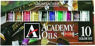 Grumbacher Academy Oil Paint, 24ml/0.81 oz Tube, 10-Color Set