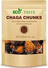 Chaga Mushroom Chunks - 8 Ounce, 100% Wild Harvested with Black Top Crust, Premium Tea Chunks - Antioxidants, Healthy Drinks