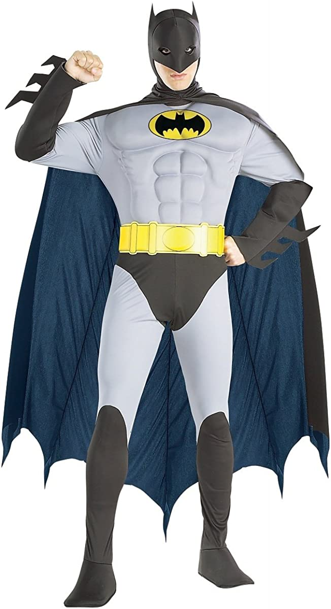Deluxe Muscle Chest Batman Industry No. 1 Adult Costume - free shipping Small