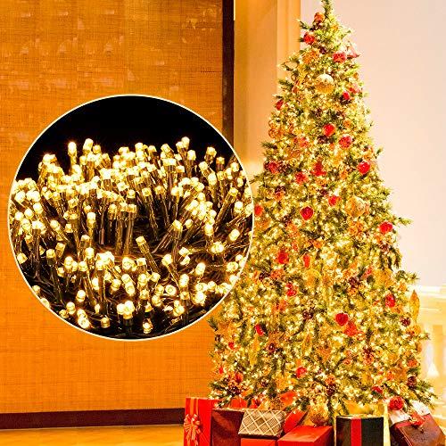 Luci Albero di Natale, Ulinek 1000LED 25M Luci Natale Esterno Stringa Luci Led IP44 Impermeabile 8Modalità Catena Luminosa Decorative per Natalizie Giardino Interno Letto Festa Casa【2020 Aggiornata】