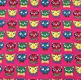 0,5m Canvas Crazy Cats pink 100% Baumwolle Meterware 140cm