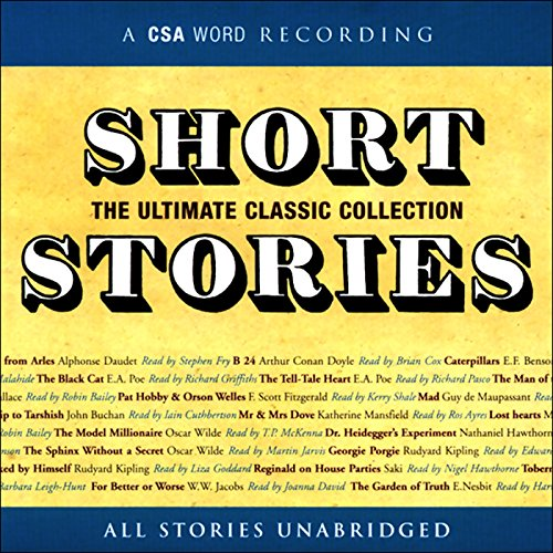 Short Stories     The Ultimate Classic Collection              By:                                                                                                                                 Edgar Allan Poe,                                                                                        Nathaniel Hawthorne,                                                                                        Arthur Conan Doyle,                   and others                          Narrated by:                                                                                                                                 various                      Length: 7 hrs and 43 mins     31 ratings     Overall 3.8