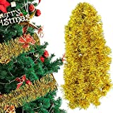 Guirnalda de Oropel de Navidad, ZoneYan 10 Piezas Oropel de Navidad Decoración, Guirnalda de Espumillón de Navidad, Guirnalda Metálico de Navidad, Chunky Espumillón de Navidad Guirnalda (18m)