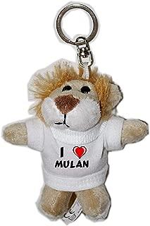 León de peluche (llavero) con Amo Mulan en la camiseta ...