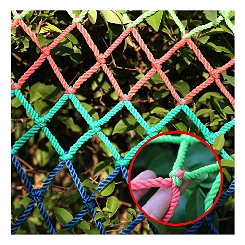 MBTY Safety Net, Railing Anti-Fall Net Garden Fence Rope Net Balcony Protective Net Kids Climbing Woven Rope Truck Cargo Trailer Netting Decoration (Size : 53(15x9ft))