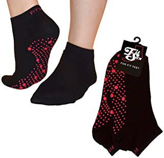FitSox Pilates, Yoga, Barre, Ballet, Dance, Fitness, Martial Arts, Gym, Workout, Anti Slip, Non Slip, Grip, Skid, Fall Pre...