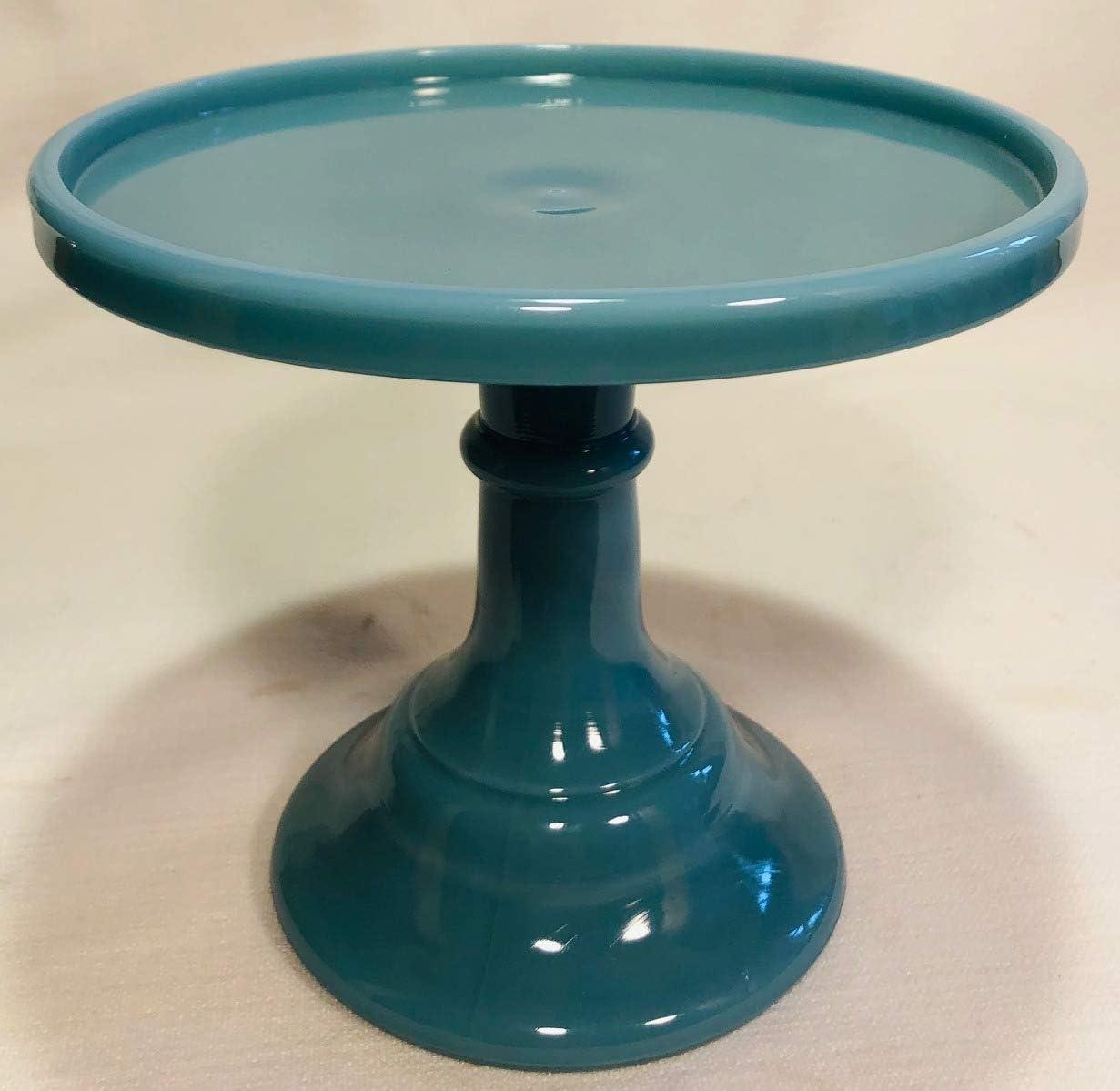 Sacramento Mall Cake Sale price Plate Round Plain Simple Glass Mosser Blue Georgia 6