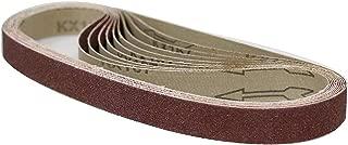 POWERTEC 111310 1 x 30 Inch Sanding Belts | 120 Grit Aluminum Oxide Sanding Belt | Premium Sandpaper – 10 Pack