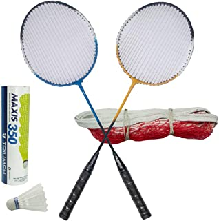 TRIUMPH Passion Badminton Combo with 1 Pair Racket, Net and 6 Pc Shuttlecock Set
