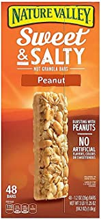 Nature Valley Granola Bars, Sweet And Salty Nut, Peanut, Family 3 Pack ( 144 Bars Total, 1.2 Oz Each )