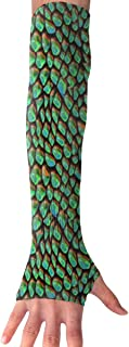 FRS Ltd Unisex Cooling Arm Sleeves Green Dragon Scales Sun Block UV Protection Perfect for Outdoor Activities (1 Pair)