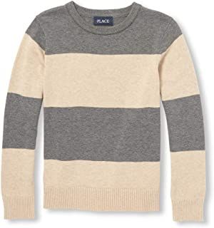 The Children's Place Big Boys' Kid Long Sleeve Stripe Sweater