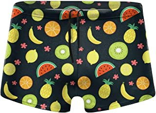 Kawaii Ice Cream Men's Beach Swimming Trunks Boxer Brief Swimwear Underwear Board Shorts