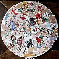 ヨーロッパとアメリカのレトロなスタイルの女の子のステッカースクラップブッキング/カード作成/日記作品DIY /ハンドブックステッカーC024