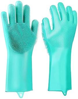 50 pares Medium Guantes de jard/ín reutilizables para lavar platos de cocina y cuidado del cabello guantes de jardiner/ía de OMELODY