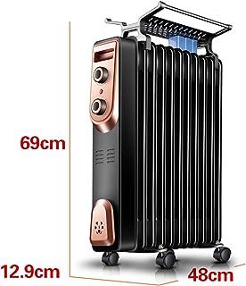 Radiador lleno de aceite negro de 2000 vatios, hogar eléctrico, temporizador de habitación completa, calefacción, radiador, calentador de aceite, tabletas para el dormitorio, calentador de radiador te