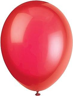 Unique Party - 56840 - Paquet de 50 Ballons - Latex - 30 cm - Rouge Écarlate