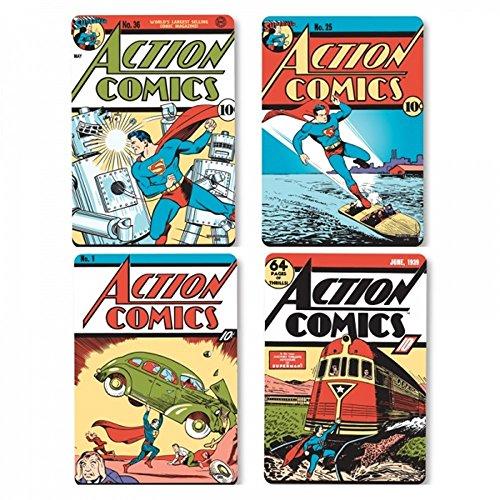 Superman DC Comics Untersetzer 4er Set - Comic Covers