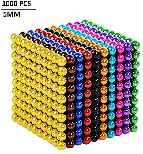 QTYJQ 3D Magic Ball, Puzzle-Kreativspiel, geeignet für Kinder und Erwachsene Dekompressionsspielzeug, Farbe (10 Farben), 1000 Partikel