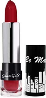 GlamGals HOLLYWOOD-U.S.A Matte Finish kiss proof lipstick -Scarlet Red