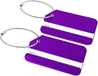 uxcell Aluminium Metal Travel Luggage Tags Card Holder Bag Suitcase Baggage Luggage Identifiers Name Address ID Labels