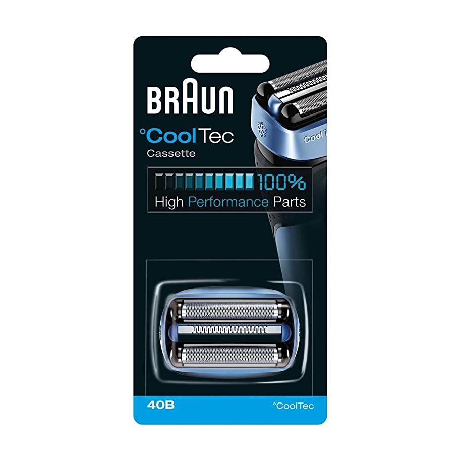 伝統的放射能期限【並行輸入品】BRAUN 40B Foil and Cutter Replacement Cartridge for CoolTec shavers series