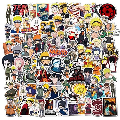 50/100 unidades de pegatinas de dibujos animados japoneses para snowboard, ordenador portátil, equipaje, frigorífico, coche estiloso, vinilo adhesivo para decoración del hogar, 50 unidades