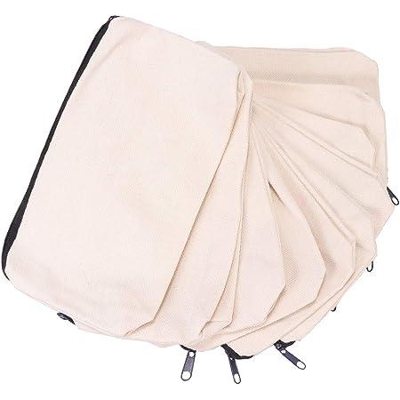 Supvox 10pcs toile fermeture éclair crayon cas artisanat vierges pochettes toile maquillage sac trousse à crayons cadeau cadeau sacs pièce monnaie bourse