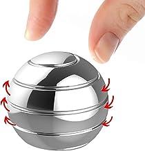 Manzelun Kinetic Desk Toys,Full Body Optical Illusion Fidget Spinner Ball,Gifts for Men,Women,Kids (Mini,Silver)