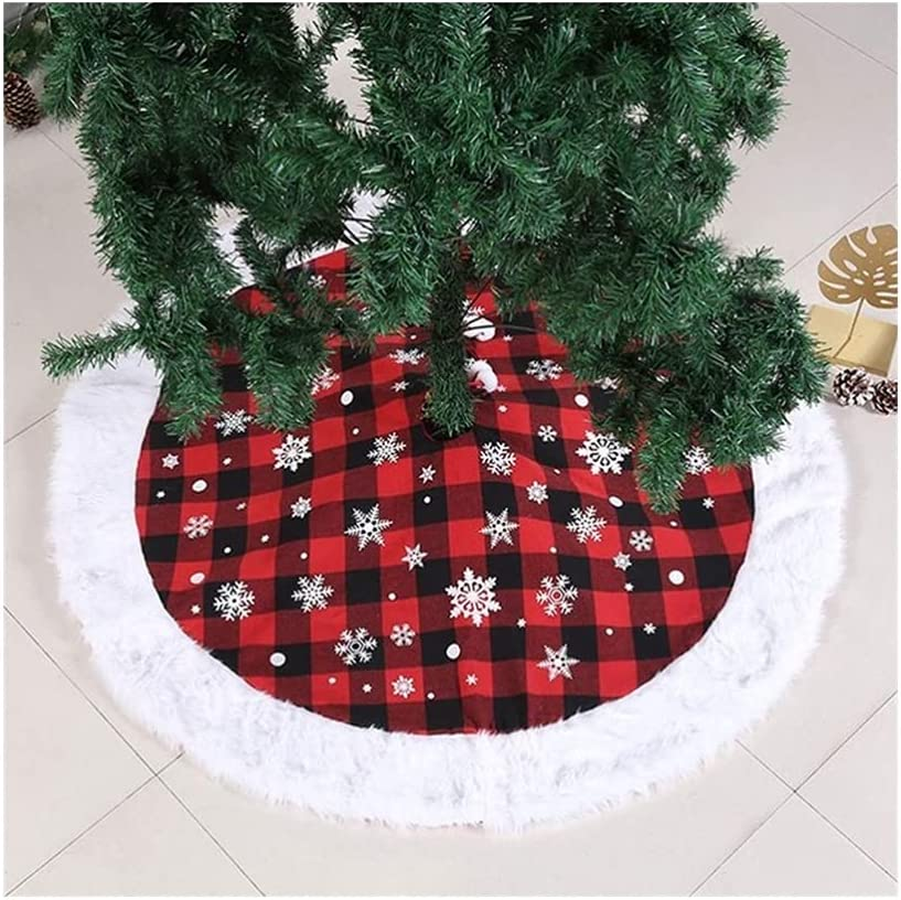 QIAOLI security Christmas Max 74% OFF Tree Skirt 48-inch for Decor Burlap