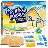 Do-It-Yourself Chanukah House Cookie Decorating Kit By Manischewitz , Easy Build Tray Included, Nut Free, Fun Hanukkah Activity for the Whole Family!