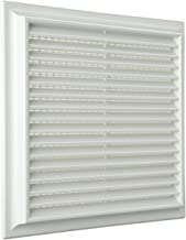La ventilaci/ón pr3713/m Rejilla de ventilaci/ón de pl/ástico rectangular 370/x 130/mm de integrado Marr/ón