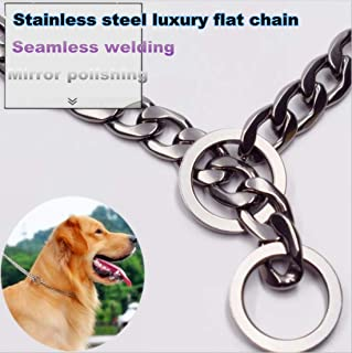 New Ultra Strong Designer Pitbull Dog Collar 15-20mm Wide Slip Chain Collar - 680 Lbs Strong! Best for Pit Bull, Mastiff, Bulldog, Big Breeds,Send Beautiful Dog Chain Box!