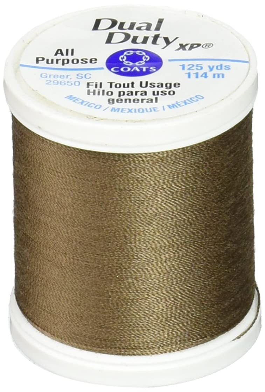 Coats: Thread & Zippers Dual Duty XP General Purpose Thread, 125-Yard, Summer Brown