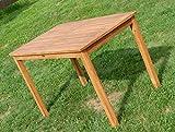 ASS Echt Teak Holztisch 120x70cm Gartenmöbel Gartentisch Garten Tisch Holz sehr robust Alpen - 2